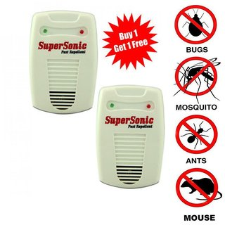 pack of 2 insects and pest control machine with Ultrasonic Insect Mosquito Repeller 6 in 1