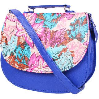 KATVON Blue Self Design Sling Bags
