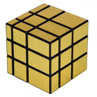 6th Dimensions  3 X 3 X 3 Golden Mirror Rubiks Cube Puzzle Game For Kids And Adults