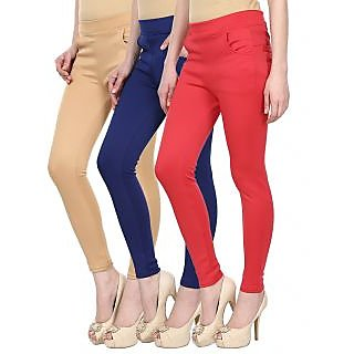 Skyline Trading Multi Color Lycra Jeggings