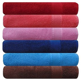 AKIN Royal Multicolor Cotton 500 GSM Hand Towel Set Of 6 (Length - 24, Width - 16)