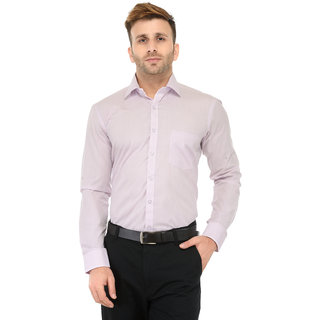 RG Designers Light Purple Solid Slim Fit Formal Shirt