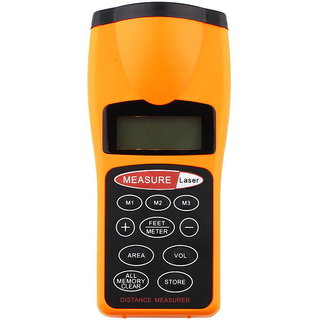 Ultrasonic Tape Measure Distance Meter/Measurer Laser Pointer Distance