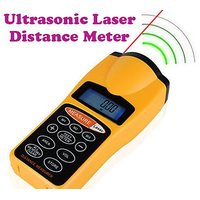 Ultrasonic Distance Measure Meter With Laser Pointer Distance  60 Ft / 18 Mt