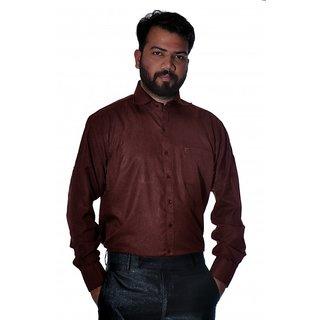 Maroon Plain Formal Shirt