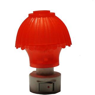 6thdimensions Mushroom Shaped Energy Saving Night Sensor Lamp (Red)