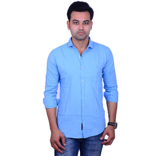 ff3747562d Buy La Milano Men s Sky Blue Slim Fit Casual Shirt Online - Get 54% Off