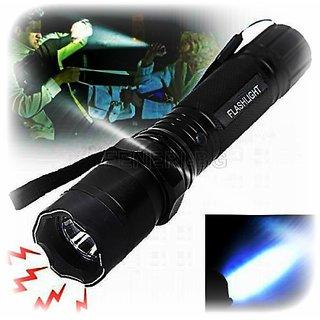 3w Rechargable Led Flashlight 4.5 Million Volt Stun Torch For Self Defence