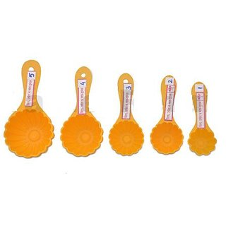 Plastic scoop for kitchen food measurement