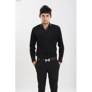 Sg Black Formal Slim Fit Shirt
