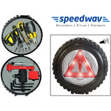 Speedwav Tyre Style 17 In 1 Tool Kit With LED Safety Triangle & Siren-BIG