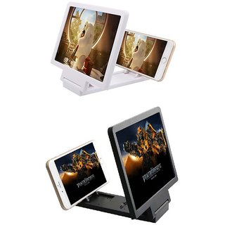 Buy 1 Get 1 Free - 3D Folding Mobile Phone Screen HD Magnifier Stand