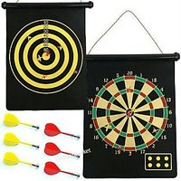 2 Sided Magnetic Dart Board Game Foldable + Darts- S1T5