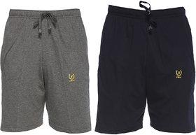 Vimal-Jonney Multicolor Cotton Blended Shorts For Men (Pack Of 2)