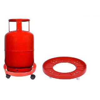 Lpg Kitchen Gas Cylinder Trolley With Wheels