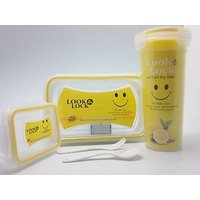 Look And Lock Gift Set Lunch Box Set ( Free 150ml Container)