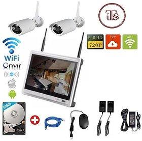 Wireless 4Ch WiFi LCD 11inch NVR 2 Camera Kit