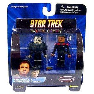 Star Trek Diamond Select Toys Series 5 Minimates Gul Dukat And Commander Sisko (Variant)