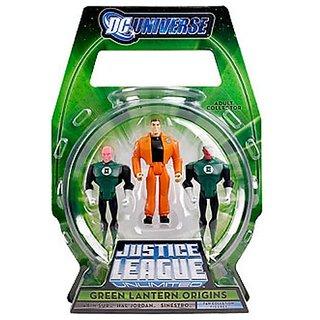 Mattel Green Lantern Origins Justice League Unlimited Exclusive Action Figure 3 Pack