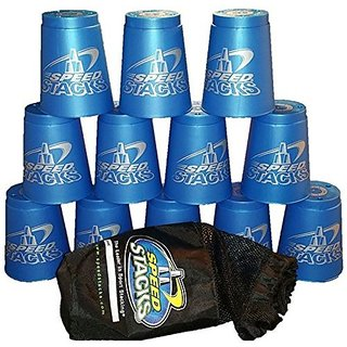 Speed Stacks Competition Cups Metallic Blue With Blue Bag