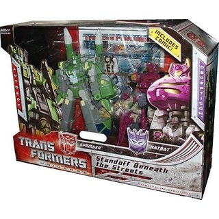 Transformers Universe War Within Series Exclusive 2 Pack Robot Action Figure Set - Standoff Beneath The Streets With Voyager Class 7 Inch Tall Autobot Springer And Deluxe Class 6 Inch Tall Decepticon Ratbat