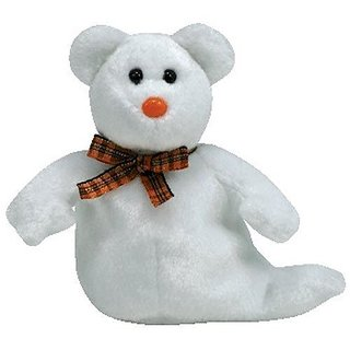 Ty Halloweenie Beanie Phantom - Ghost Bear