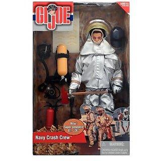 G.I Joe Navy Crash Crew Fire Fighter In Fireproof Suit 12-Inch Action Figure