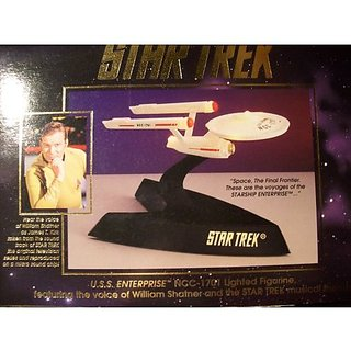 U.S.S. Enterprise NCC-1701 Lighted Figurine Featuring The Voice Of William Shatner And The Star Trek Musical Theme 47056 1993