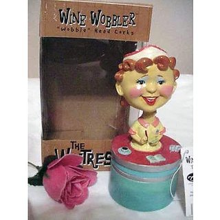 The Waitress Wine Wobbler- Bobble Head Cork