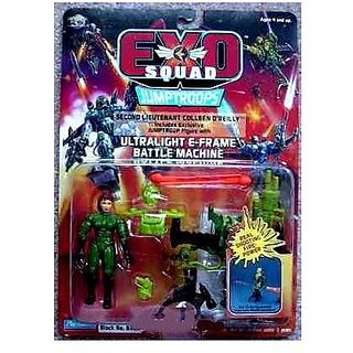 Second Lieutenant Colleen OReilly Exclusive Jumptroop Action Figure With Ultralight E-Frame Battle M