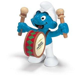Schleich Smurf Drummer Smurf