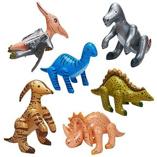 Jumbo Inflatable Dinosaurs ( 6 Count)(Assorted)