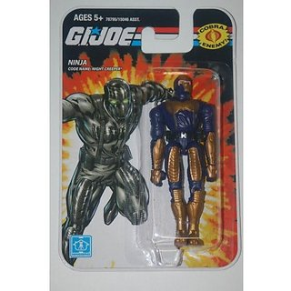 GI Joe Real American Hero 3.75&Quot; NIGHT-CREEPER Ninja Action Figure Wave 01 Toy