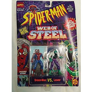 Spider-Man Web Of Steel Spiderman Vs. Lizard Die Cast Metal Poseable Figures