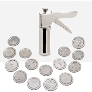 STAINLESS STEEL KITCHEN PRESS WITH ICING NOZZLES | COOKIE PRESS | IDUPUM MAKER
