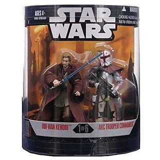 Star Wars Saga 2008 Exclusive Order 66 Action Figure 2-Pack Obi-Wan Kenobi &Amp; Arc Trooper Commander