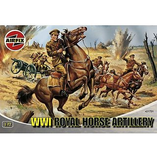 Airfix A01731 1:72 Scale WWI Royal Horse Artillery Figures Classic Kit Series 1