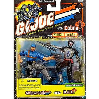 Gi Joe Shipwreck VS B.A.T. 2 Pack