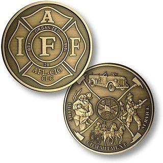 Iaff Fireman Theme Bronze Antique