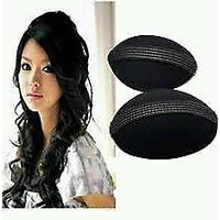 Hair Volumizing Soft Velcro Inserts Black (2 Piece In 1 Pack) Soft Bumpits Puff - 4545646