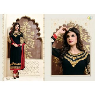 Evelyn Straight Cut Salwar suit Black