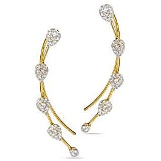 Juvalia Leaf Love Ear Cuffs