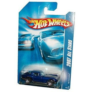 Mattel Hot Wheels 2007 All Stars Series 1:64 Scale Die Cast Metal Car Metallic Blue Sport Coupe 1963 Corvette With Fun Facts # 150