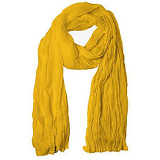 revin lemon yellow semi chiffon dupatta