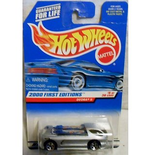 Hot Wheels 2000 First Editions Silver Deora II 1:64 Scale Collectible Die Cast Car #005