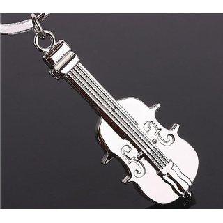 Guitar Shaped Key Chain Metallic Keychain