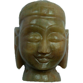 1355 Cts Green Aquamarine Beryl  Buddha Head