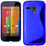 Kelpuj Soft Silicon Gel Back Cover Case For Motorola Moto G - Blue