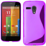 Kelpuj Soft Silicon Gel Back Cover Case For Motorola Moto G - Pink