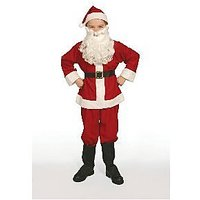 Complete Santa Claus Suit Set Child Costume Size 8-10 M